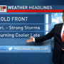 Cold front to swing through South Texas, cooler temperatures, possible storms on the way