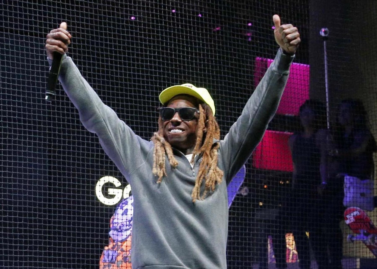 FILE - In this Wednesday, June 15, 2016 file photo, Rapper Lil Wayne performs at the Samsung exhibit at the Electronic Entertainment Expo in Los Angeles. (AP Photo/Nick Ut, File)