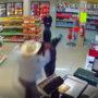 Take down of armed robber caught on camera
