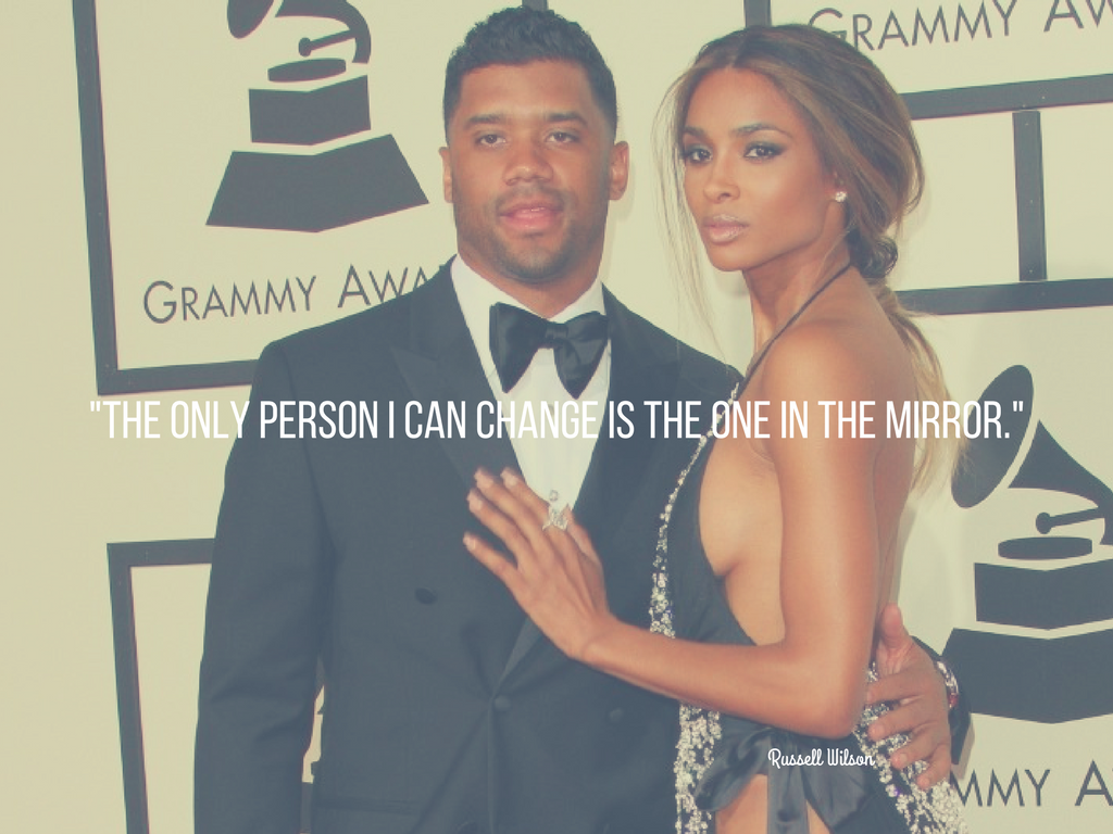 """The only person I can change is the one in the mirror."" -Russell Wilson. (Image: Adriana M. Barraza/WENN.com)"