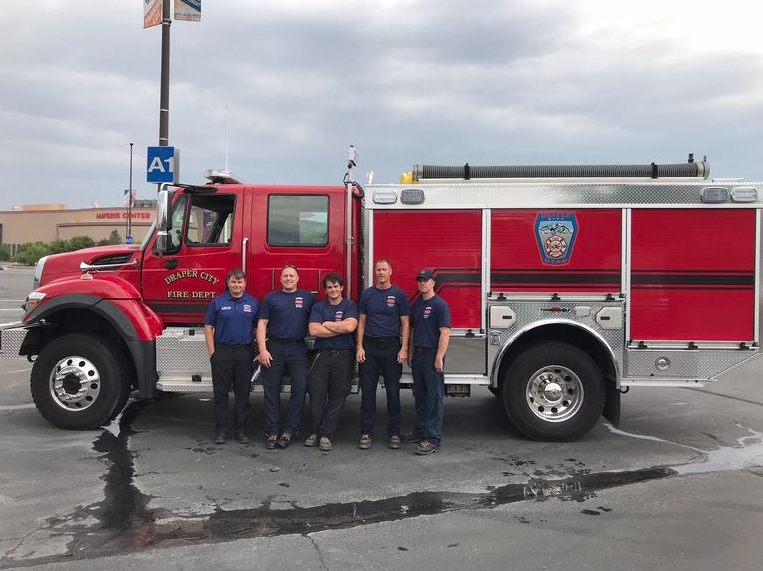 Matt Burchett deployed with four other Draper City firefighters to assist on the Mendocino Complex Fire in Northern California, one of the largest wildfires in that state's history. (Photo: Draper City)