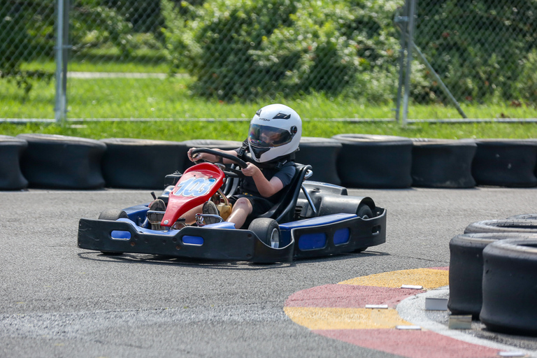 RFK Stadium may be in a transition phase, but parking lot eight has found new life as a Go-kart track. Summit Point Track is unlike other Go-kart tracks - participants start off on a small track and work their way up to bigger, faster and more challenging courses. The track, which opened a month ago, is outdoors and offers packages for kids, first timers, parties, corporate retreats and experienced riders alike. (Amanda Andrade-Rhoades/DC Refined)