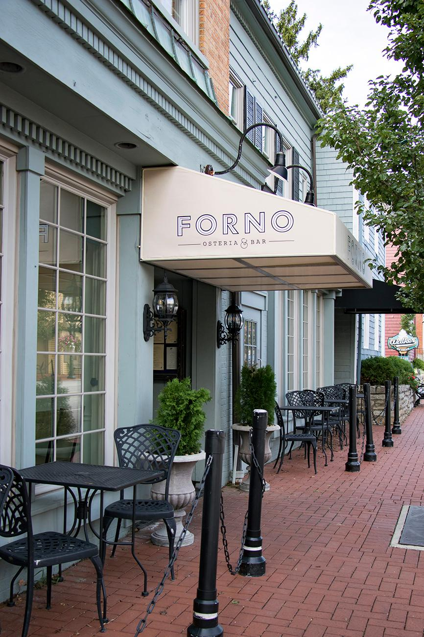 Forno Osteria & Bar serves authentic Italian food and wine, and specializes in wood- fired oven pizzas. Originally only in Hyde Park, a new Montgomery location opened in July. Come in for dinner Tuesday through Sunday, or stop in for brunch on Sunday mornings. ADDRESS: 9415 Montgomery Road (45242) / Image: Allison McAdams // Published: 9.8.18