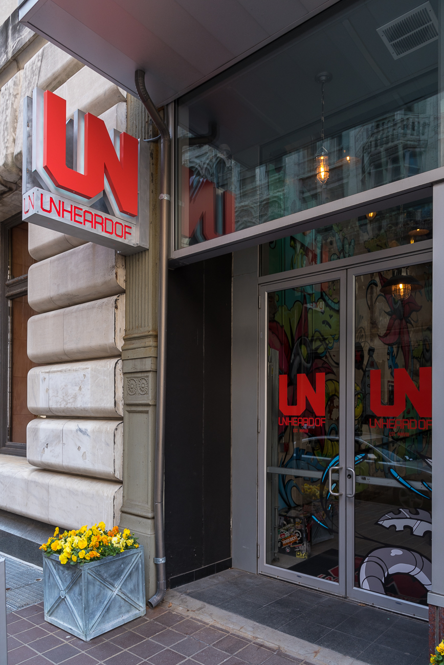 4th Street has a stylish footwear shop:{ }UNheardof / ADDRESS: 15 W 4th Street / Image: Phil Armstrong, Cincinnati Refined // Published: 4.23.18