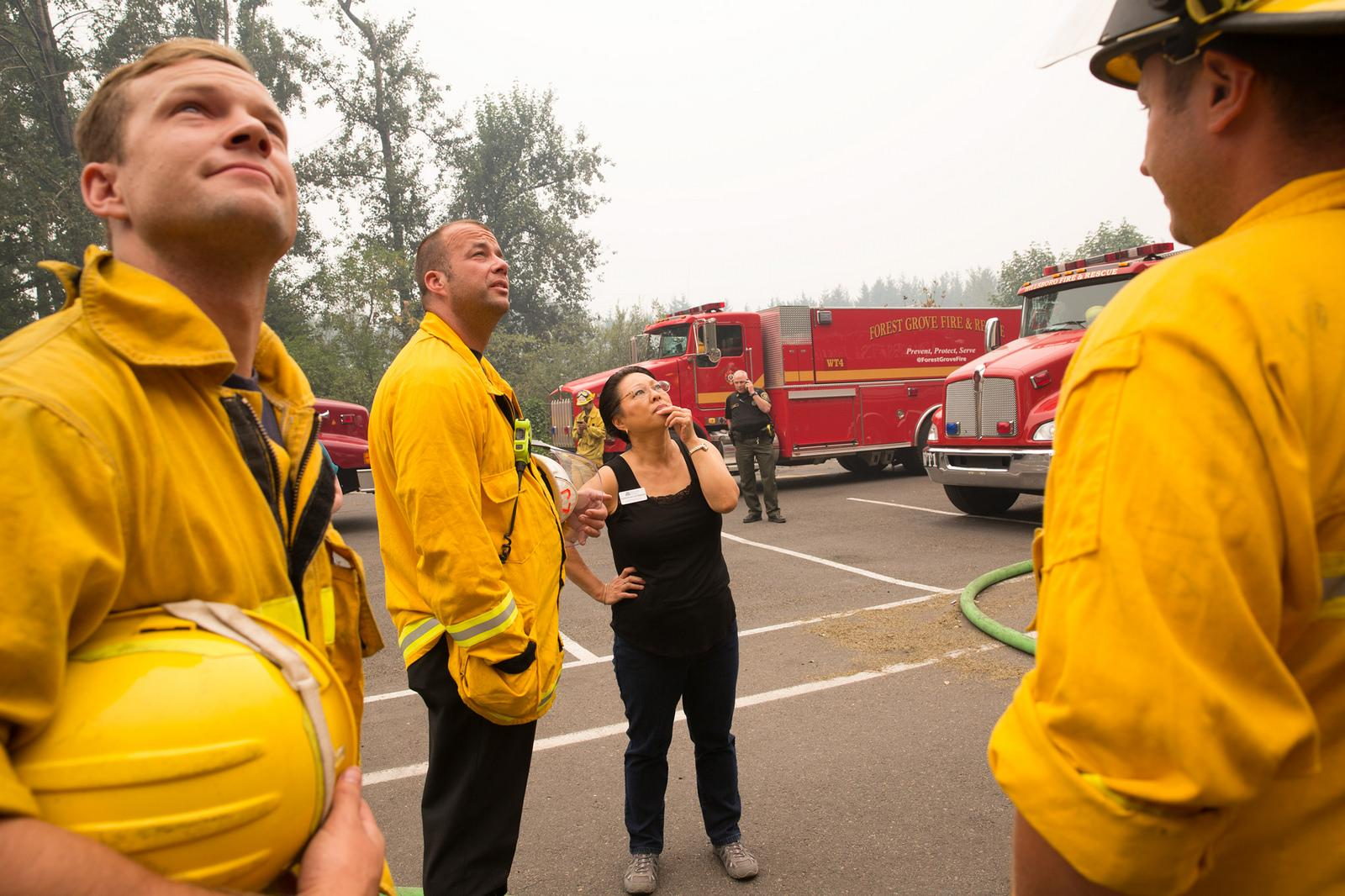 More than 600 firefighters are working to contain the Eagle Creek Fire in the Columbia River Gorge. They're also taking precautionary measures to protect structures near the fire. Photo courtesy Multnomah County Communications