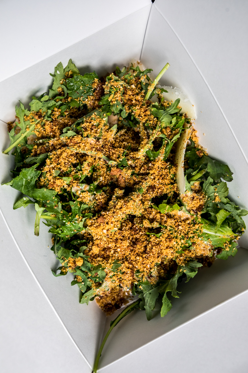 Black Kale Caesar with parmigiano and breadcrumbs / Image: Catherine Viox // Published: 4.25.20