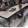 FSU football player eats lunch with student sitting alone