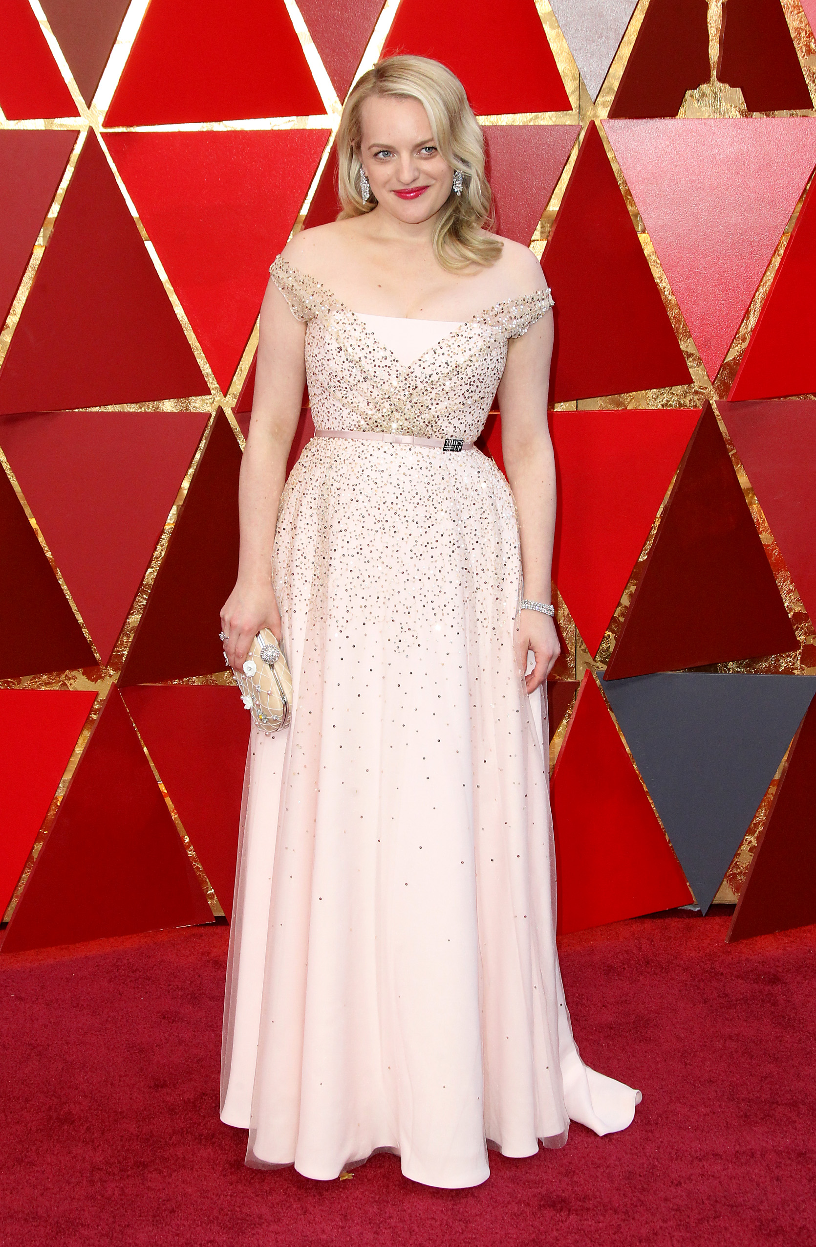 Elisabeth Moss{&nbsp;}arrives at the 90th Annual Academy Awards (Oscars) held at the Dolby Theater in Hollywood, California. (Image: Adriana M. Barraza/WENN.com)<p></p>