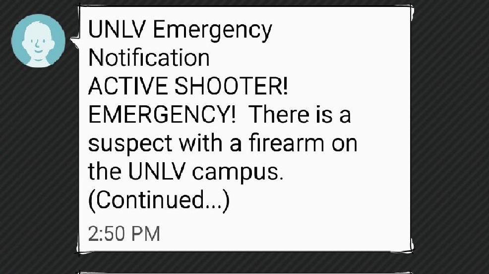 unlv students and staff receive false active shooter alert ksnv. Black Bedroom Furniture Sets. Home Design Ideas