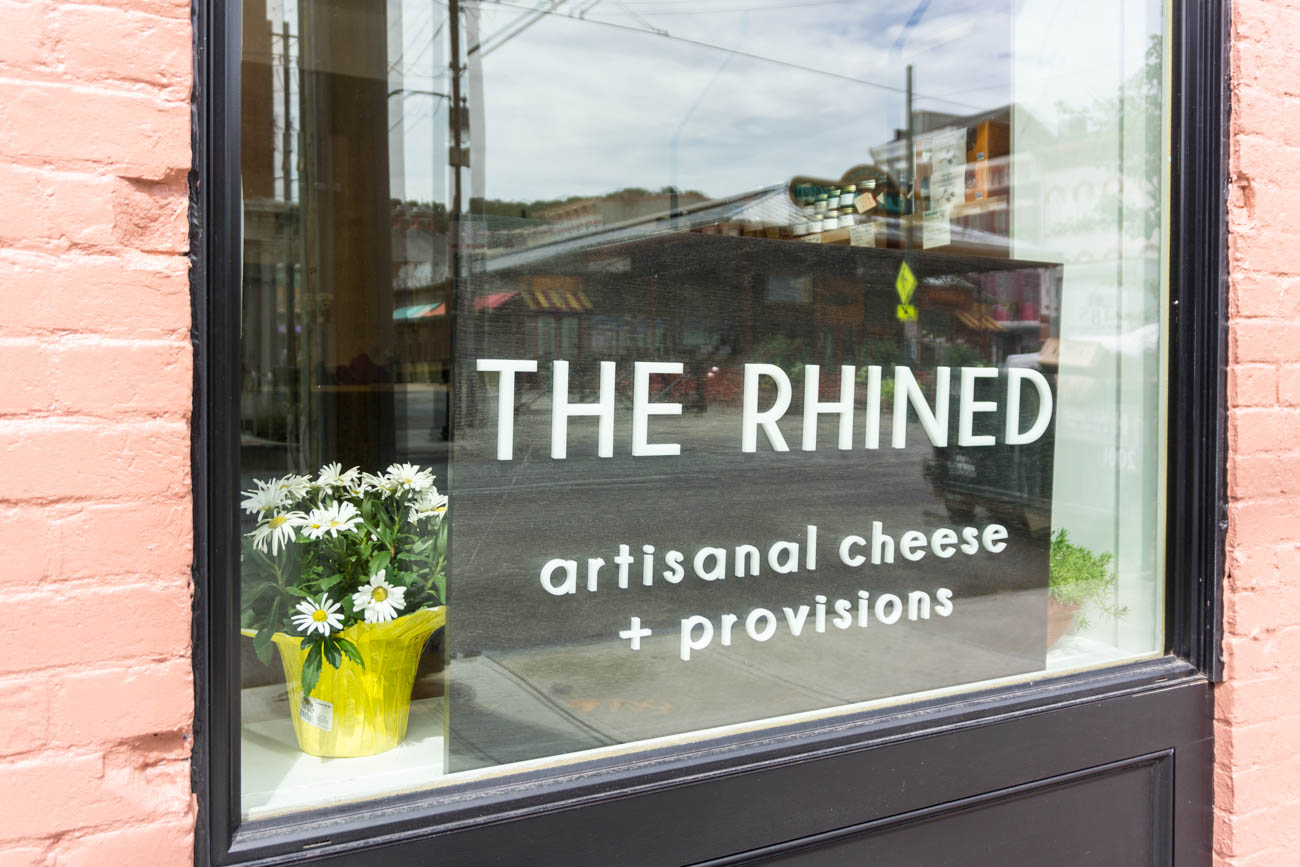 The Rhined is a new Over-the-Rhine cheese shop located across from Findlay Market on Elm Street. It sells a variety of artisanal American cheeses as well as the necessary ingredients to build custom cheese boards (such as jams, olives, and the like). The shop also features an area where customers can eat cheese that's been paired with various alcohols. ADDRESS: 1737 Elm St. (45202) / Image: Sarah Vester // Published: 7.24.17
