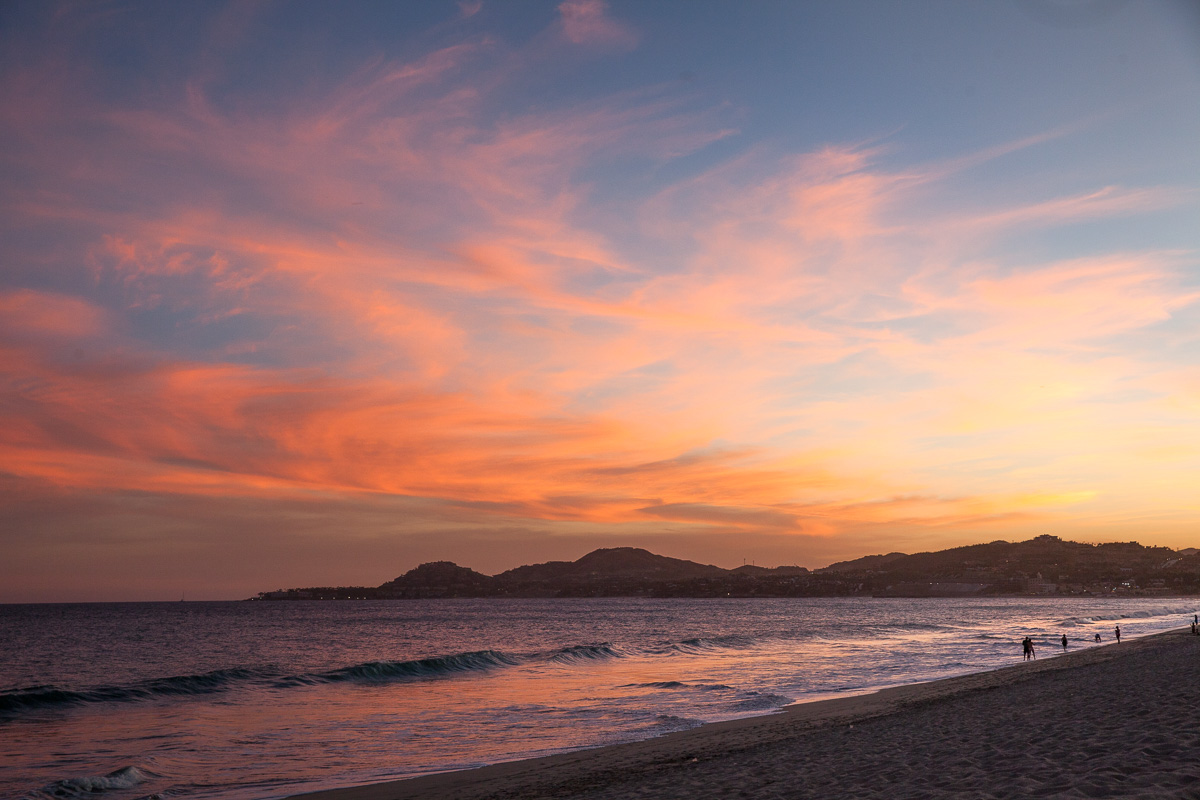 Sunset on the beach at Hyatt Ziva Los Cabos (Images: Paola Thomas / Seattle Refined)