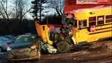 Frederick County school bus crashes; driver, 1 student taken to hospital