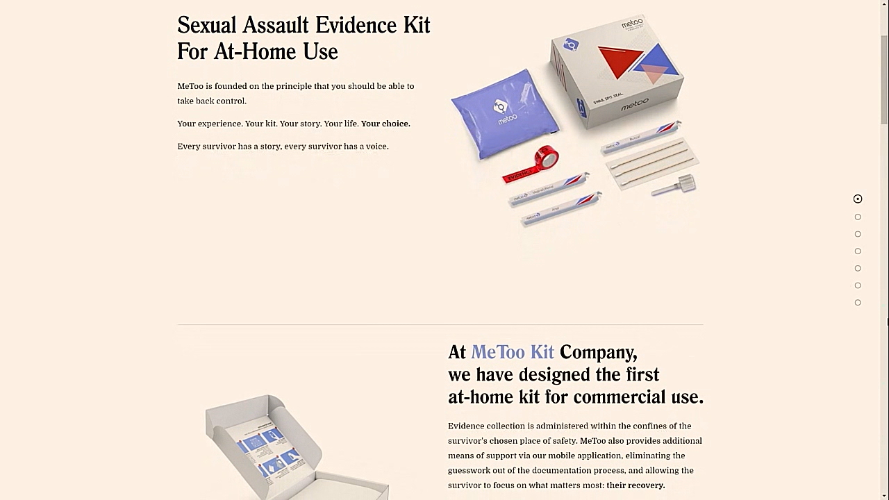 Founders of MeToo Kit expect to start selling it at the start of next year. (Photo credit: MeToo Kit)
