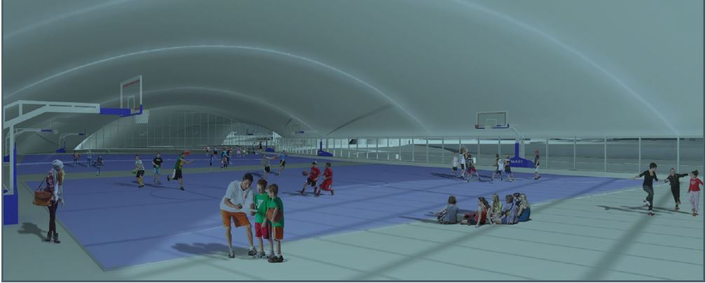 Rendering of sports facility planned for Cohen Reimagined project.{&amp;nbsp;}Courtesy: City of El Paso<p></p>