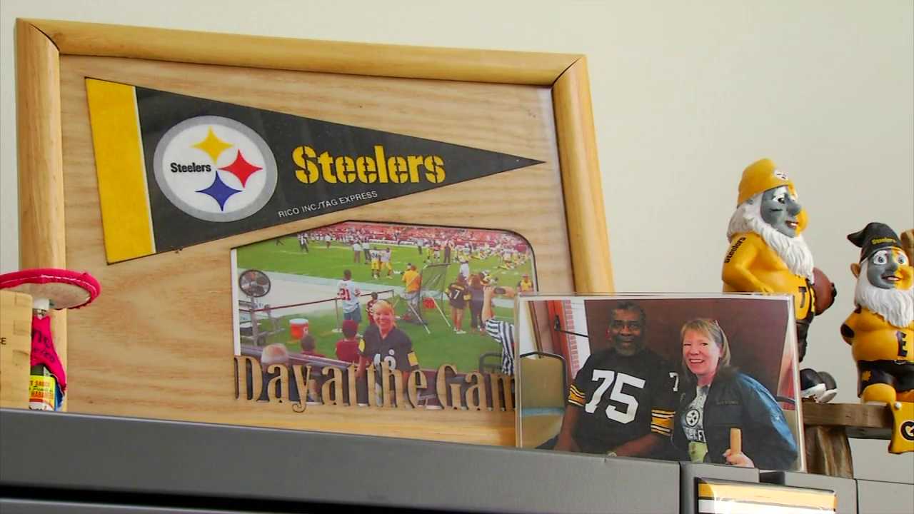 Chantel Sheehan of Asheville said she gained enough points with the Steelers Fan Club to be entered into a special raffle. The raffle was for a pregame experience at the Steelers football game against the Browns on Sunday, Dec. 31. (Photo credit: WLOS Staff)