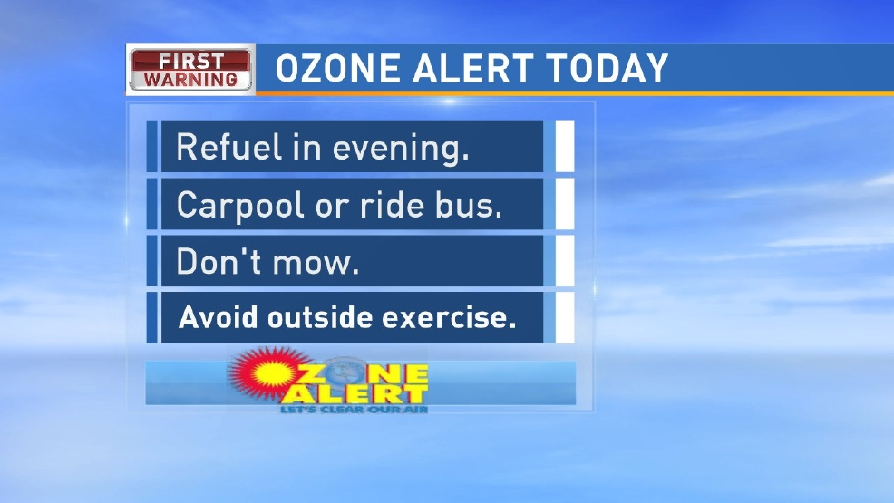 Ozone Alert in effect Monday