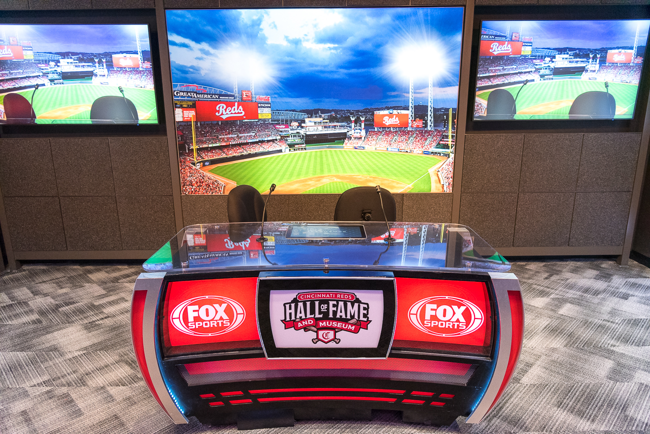 A section of the museum is dedicated to the Reds broadcasters over the years. / Image: Phil Armstrong, Cincinnati Refined // Published: 4.20.19