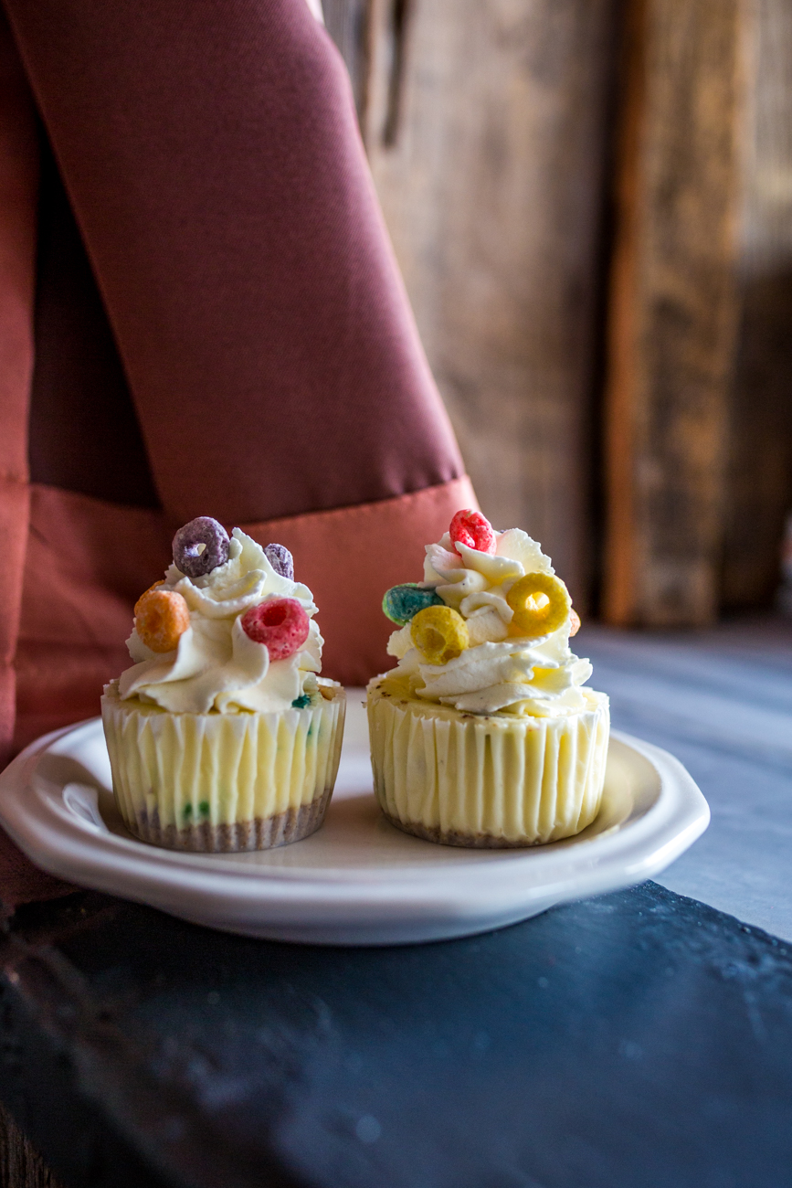 Fruit Loop cheesecake cupcake / Image: Catherine Viox{ }// Published: 8.1.19