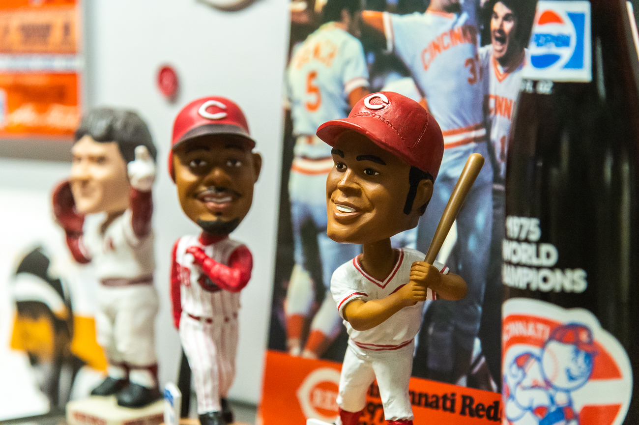 Bobbleheads and references to Cincinnati's Big Red Machine / Image: Phil Armstrong, Cincinnati Refined // Published: 10.23.20