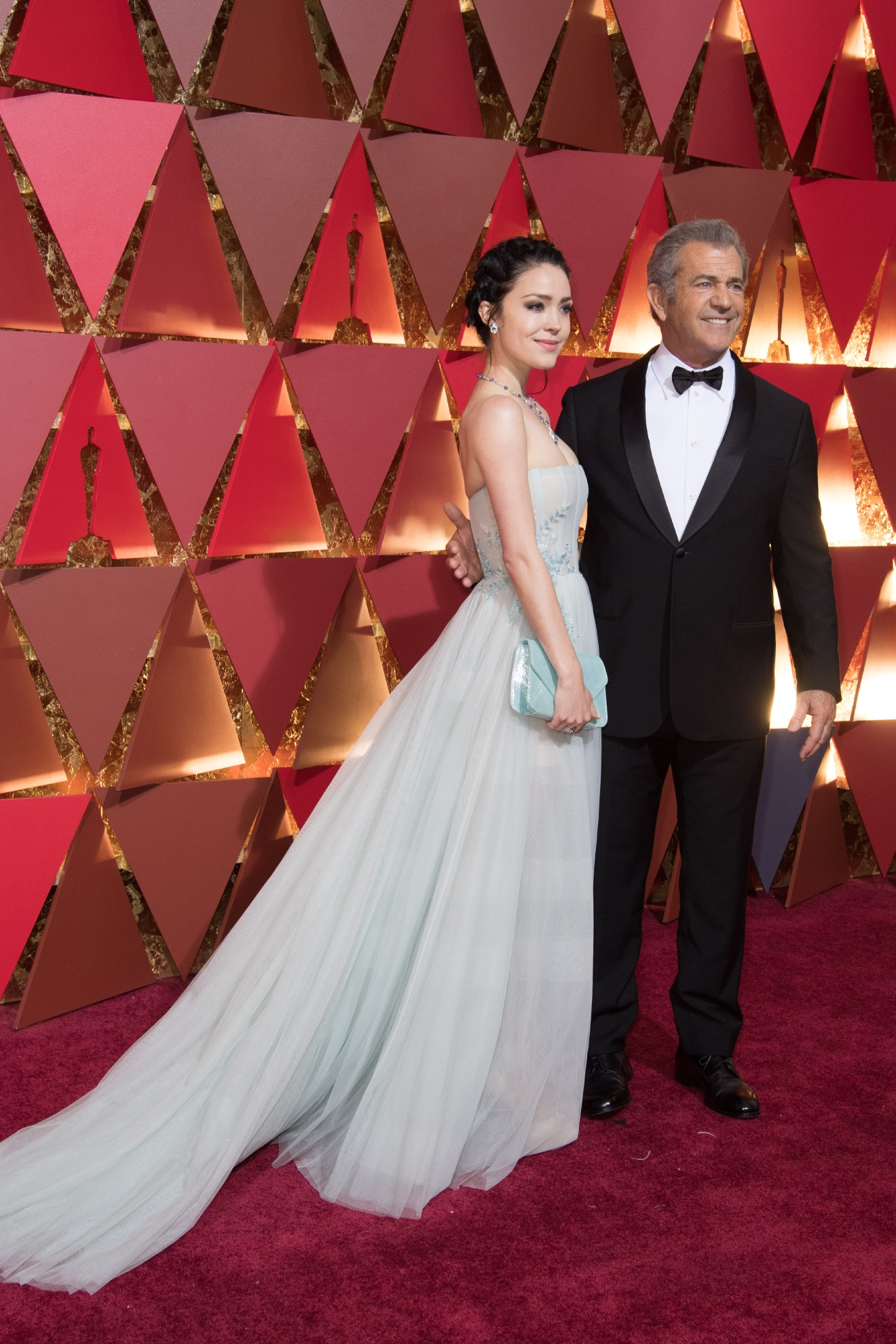 #26: Mel Gibson and Rosalind Ross know how to do red carpet - it's essentially their job. They're good at playing it classic and safe (a shocker for Mel Gibson!). (Image: AMPAS)