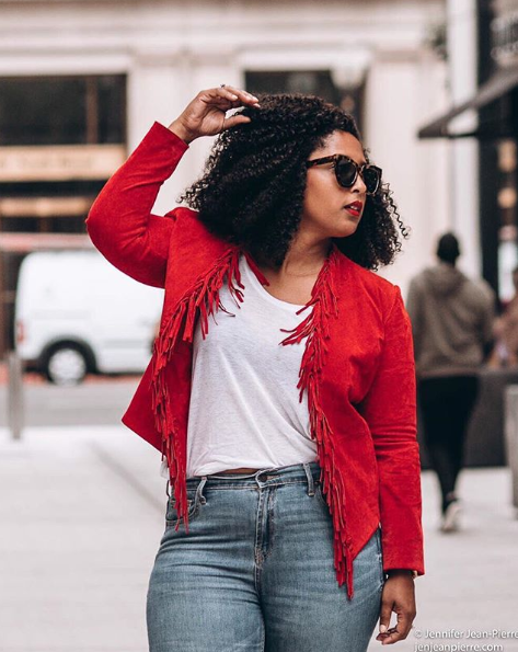 This jacket is so eye-catching, it's melting away our winter blues. (Image via @jenjeanpierre)