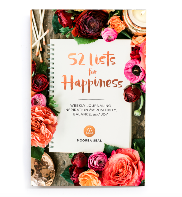 52 Lists for Happiness book by Moorea Seal ($16.95). Find on mooreaseal.com. (Image: Moorea Seal)