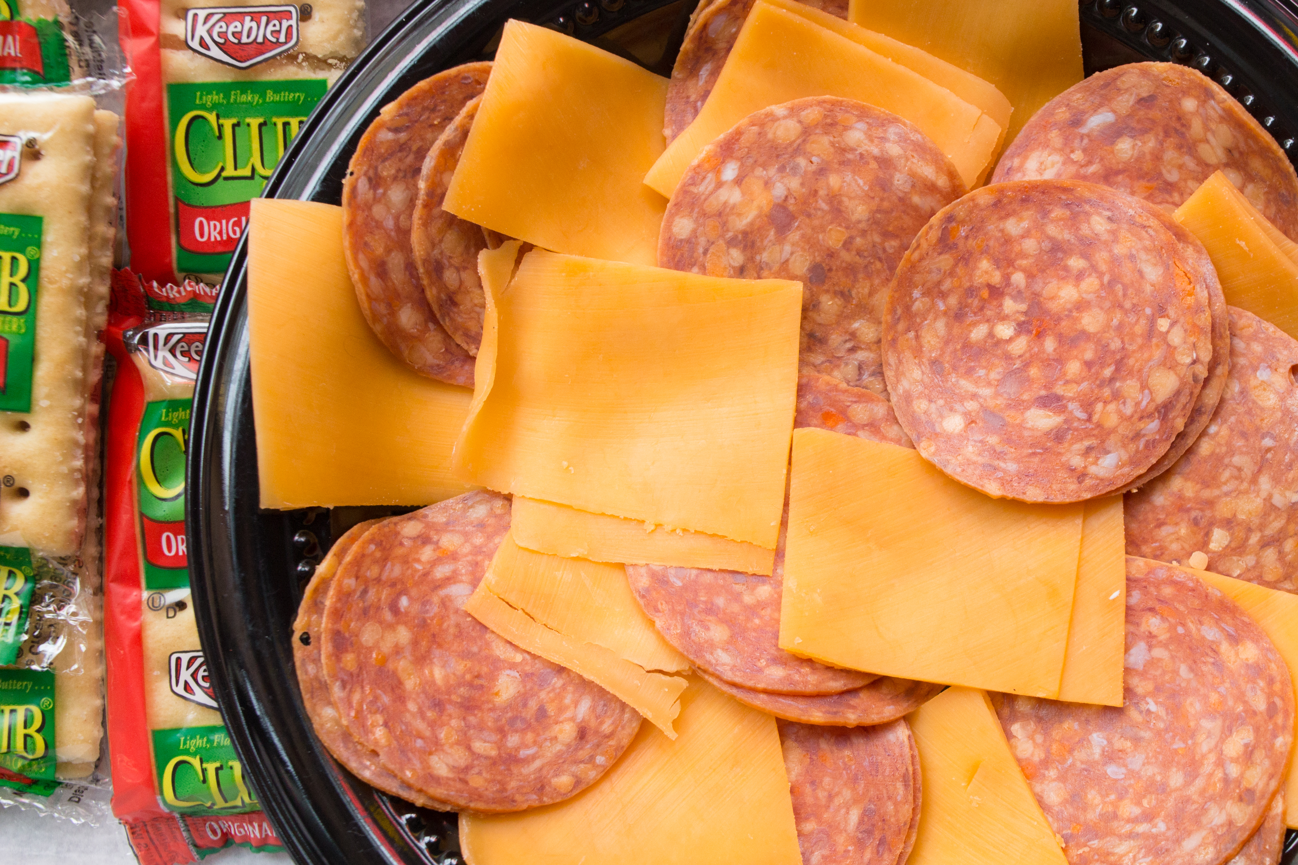 Pepperoni and cheese plate / Image: Catherine Viox // Published: 11.29.17
