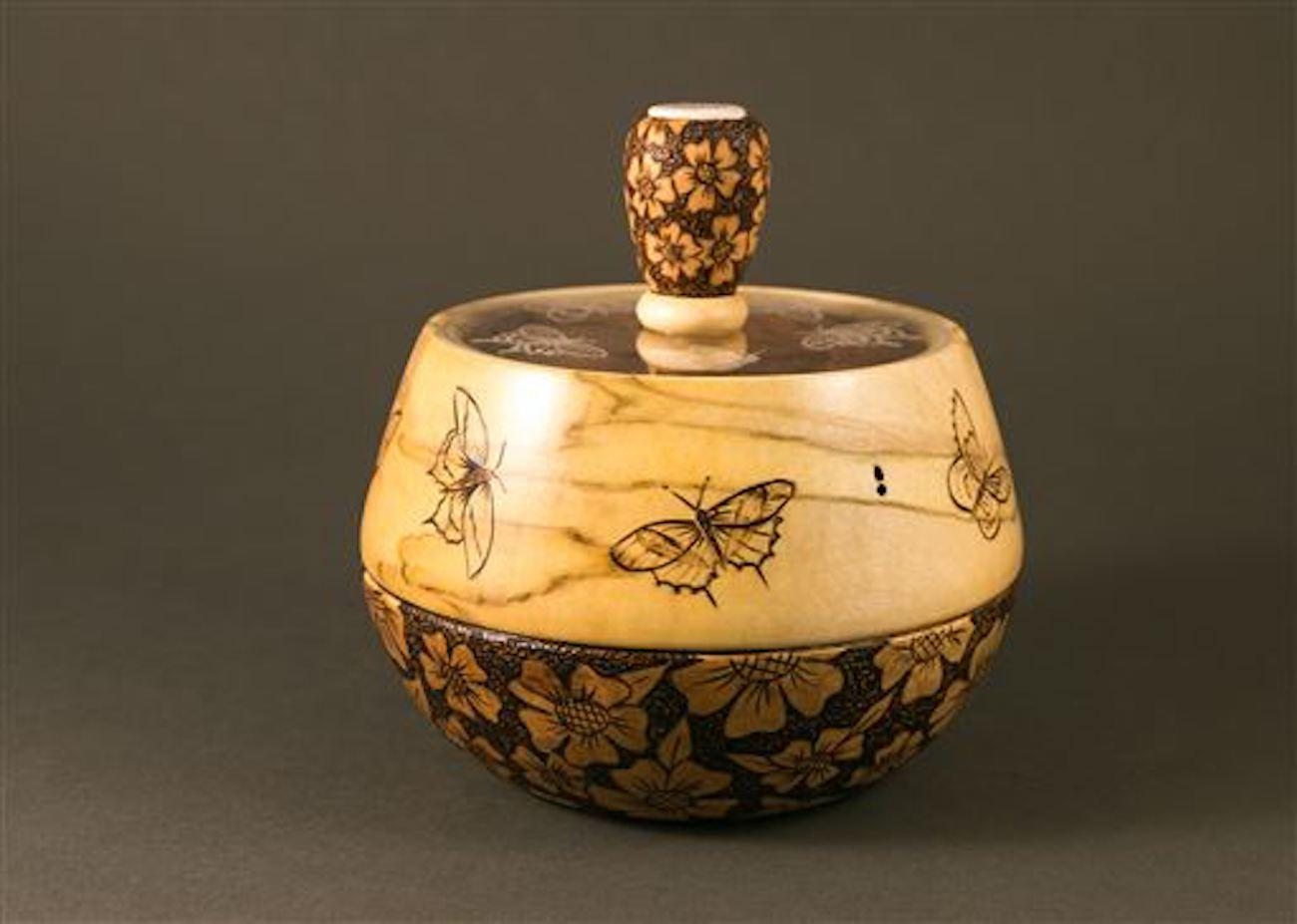 Work by Mary Carol Meinken, a 15-year woodturning veteran. / Image: Mary Carol Meinken{ }// Published: 4.18.19