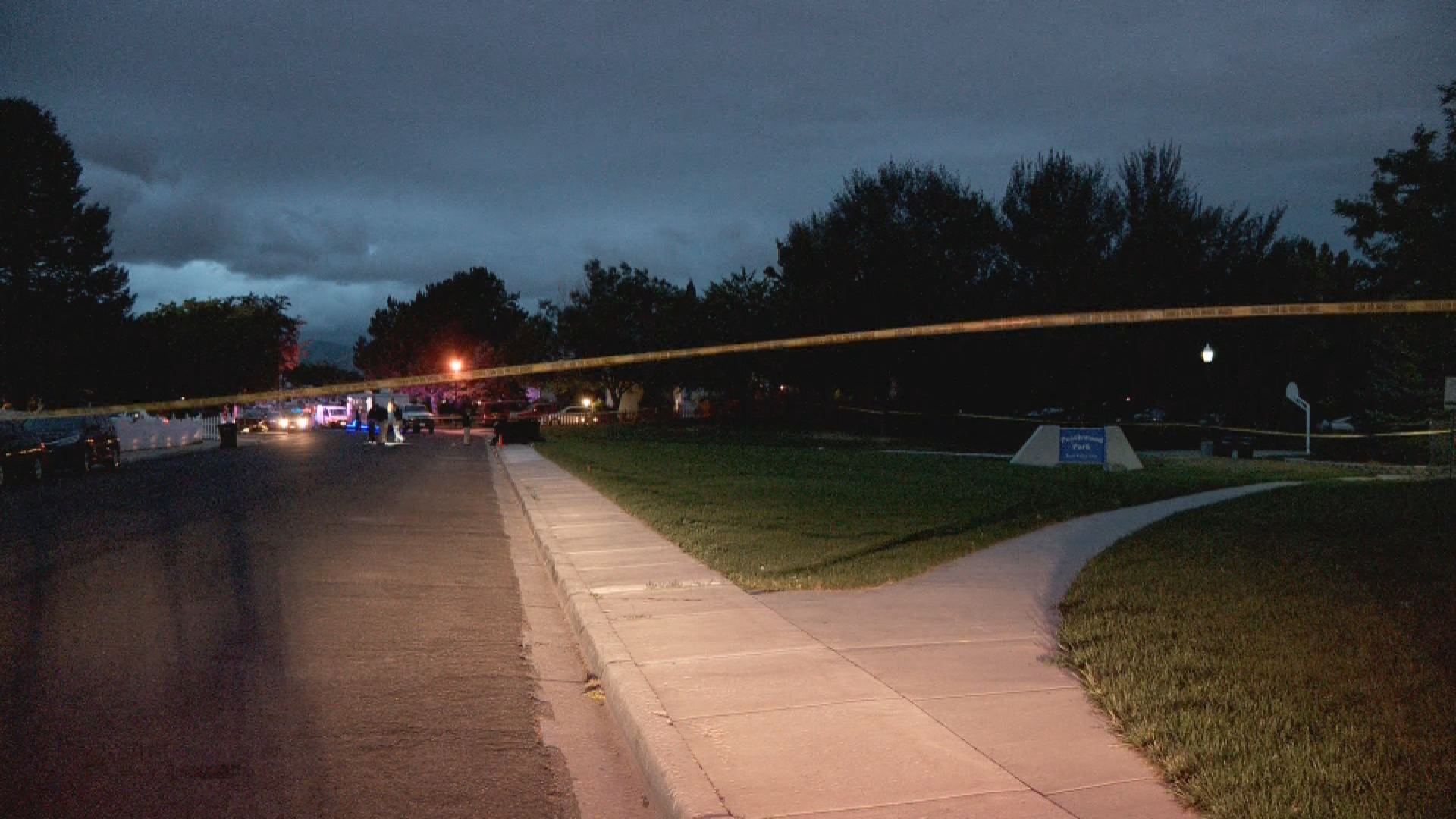 Crime scene tape blocks off the scene where 17-year-old Edwin Reyes was shot in West Valley City on June 28, 2020. (Photo: KUTV)