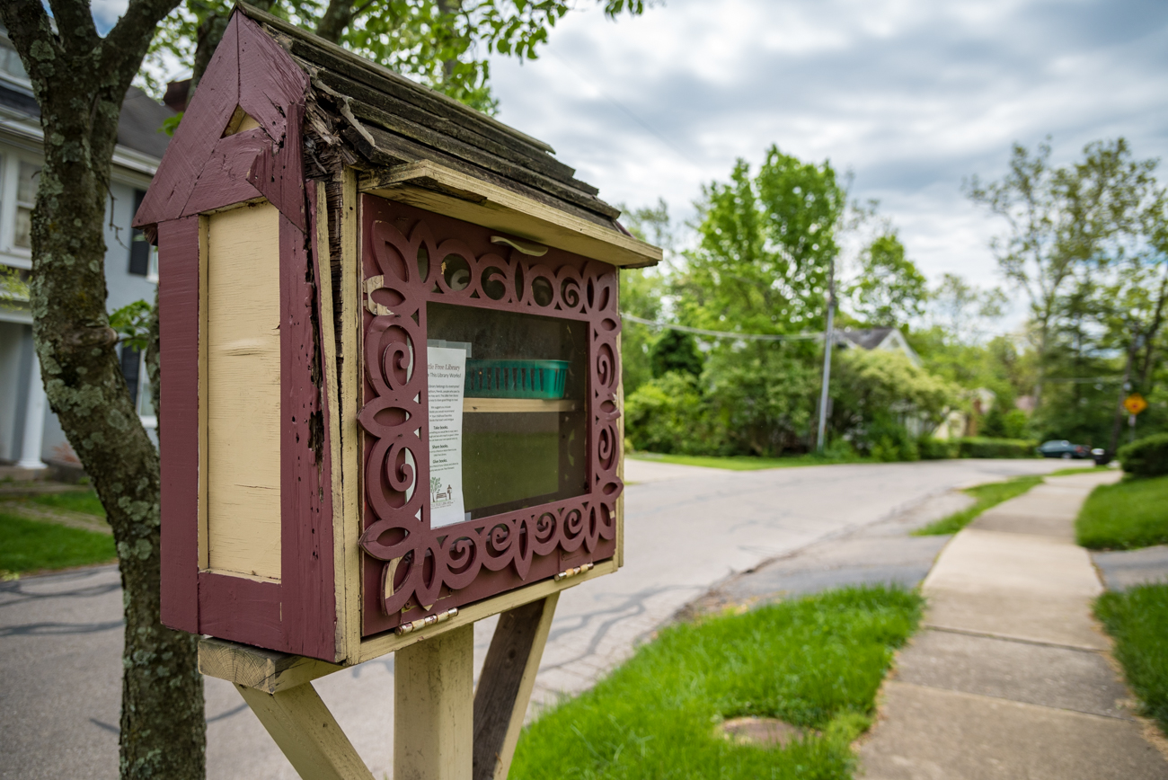 LOCATION: In someone's front yard (accessible from sidewalk) in Hyde Park / ADDRESS: 3689 Grovedale Place (45208) / FUN FACT: This box doesn't face the street; it faces the house because it's next to a tree. / IMAGE: Phil Armstrong, Cincinnati Refined // PUBLISHED: 5.3.17