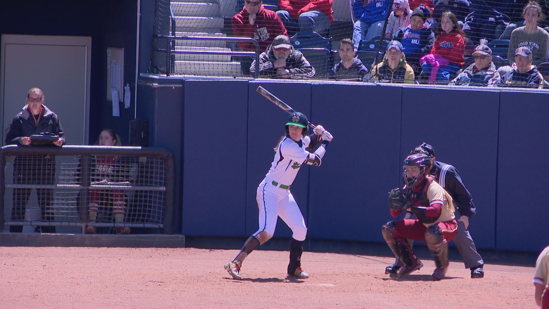 Karley Wester hits walk-off RBI single to help the Irish top Boston College 10-5 // WSBT 22 Photo