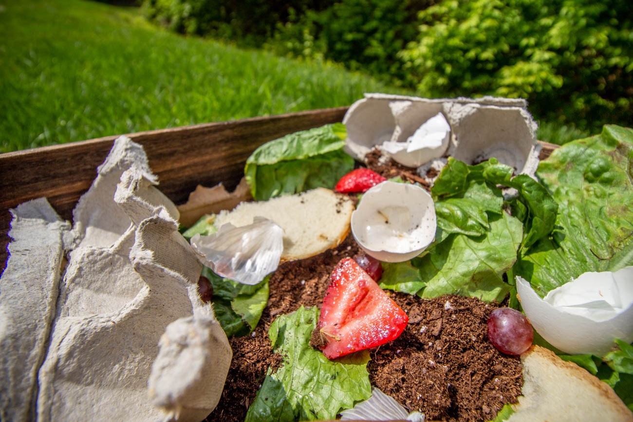 Once the outside pile is full, Slakmon recommends leaving it alone for a few months to let bacteria break everything down into excellent soil. Then it's ready to be added to your garden. You can start building a second compost pile while the first one is breaking down. She says the compost will be reduced in volume by as much as 60 percent as it decomposes, so you will end up with much less than you had when you started.{ }/ Image: Katie Robinson, Cincinnati Refined // Published: 4.20.20