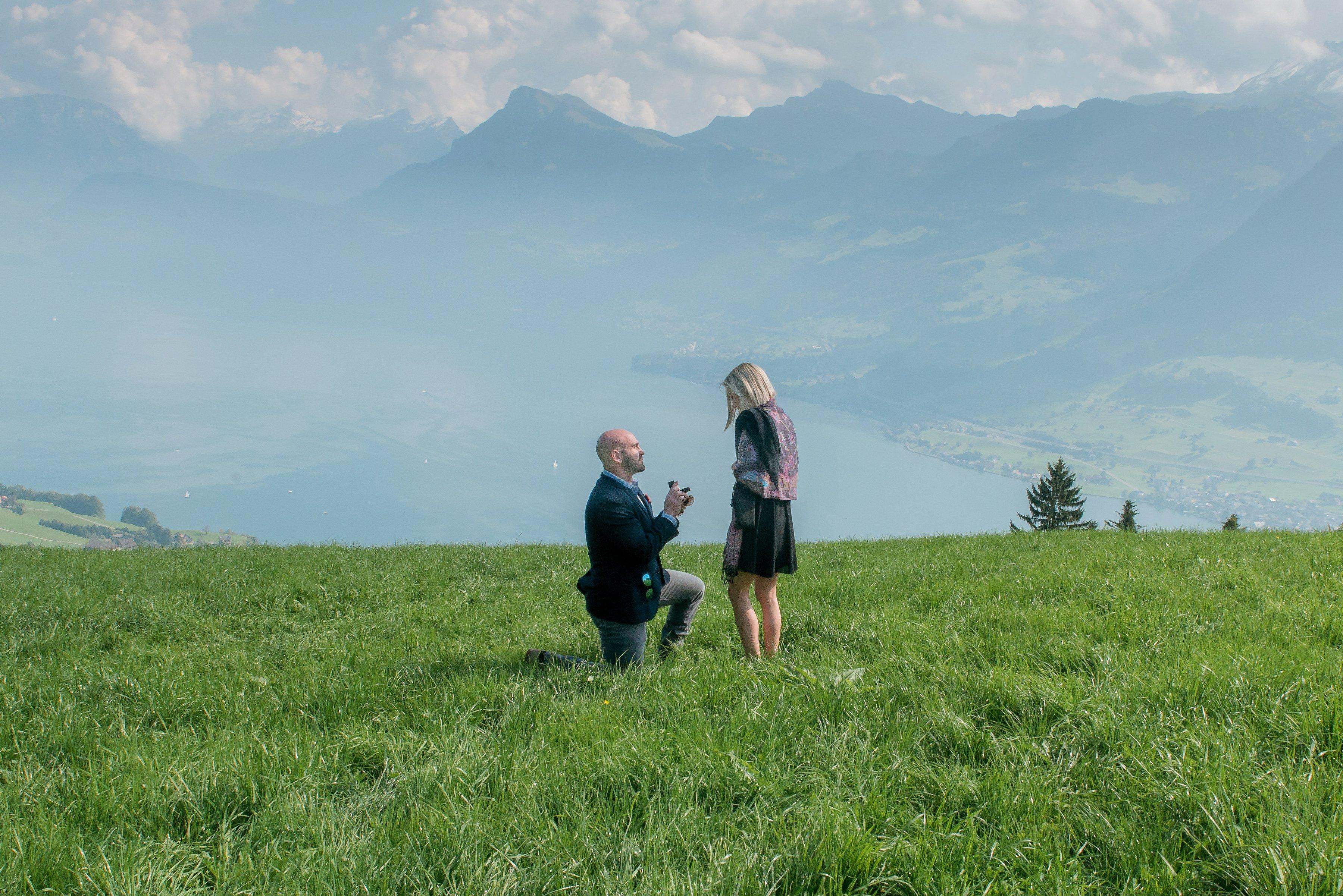 Bobby proposed in Lucerne, Switzerland in September 2017.  (Image: Courtesy Summer Crawley)