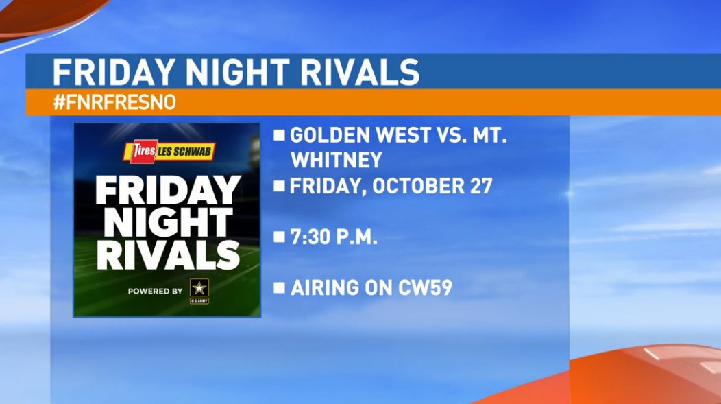 Our next matchup features the Golden West Trailblazers taking on the Mt. Whitney Pioneers at 7:30 pm. at the Mineral King Bowl in Visalia.