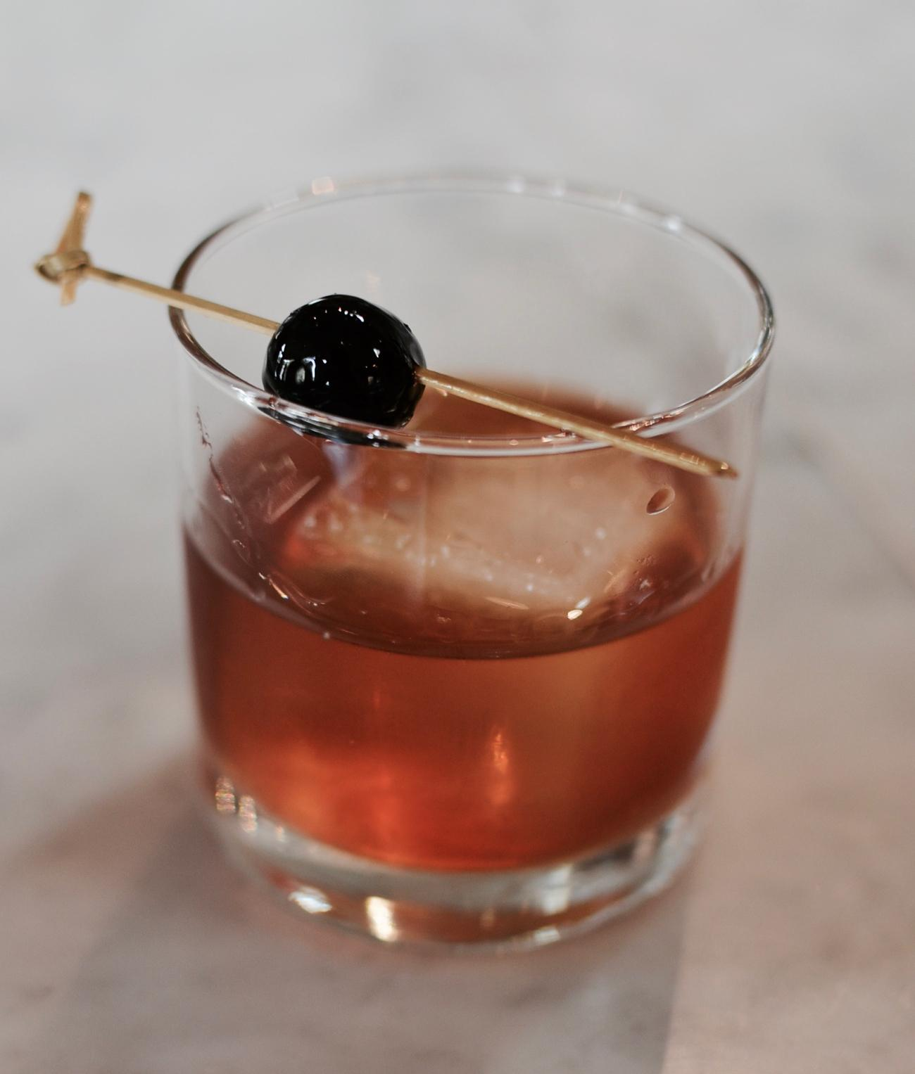 Lower East Side: bourbon, berth vermouth, luxardo, bitters / Image: Leah Zipperstein, Cincinnati Refined // Published: 4.28.17