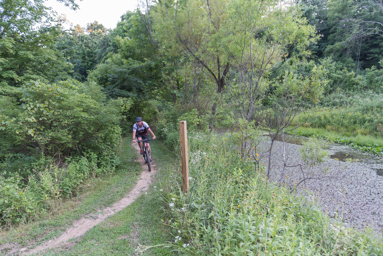 PLACE: Mitchell Memorial Forest / ADDRESS: 5401 Zion Road (45002) / PRICE: free / Mitchell Memorial Forest is a 1,473-acre forest on the West Side of Cincinnati. Though the park is filled with many fantastic features, it boasts Hamilton County's first official mountain bike trail. The roughly eight miles of trail includes two different courses: one for intermediate riders and one for advanced. / SPECIAL CLOSURES: The picnic areas are off-limits. / WEBSITE: greatparks.org / Image: Mike Menke // Published: 3.17.20