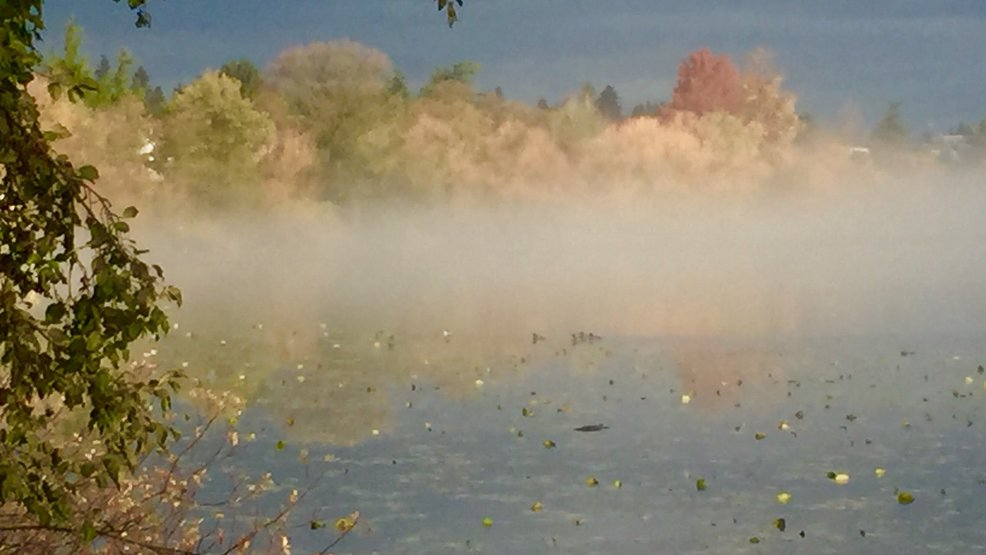"Record ""heat"" makes for some spooky fog scenes along our area's lakes"