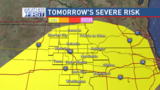Strong storms possible Wednesday afternoon