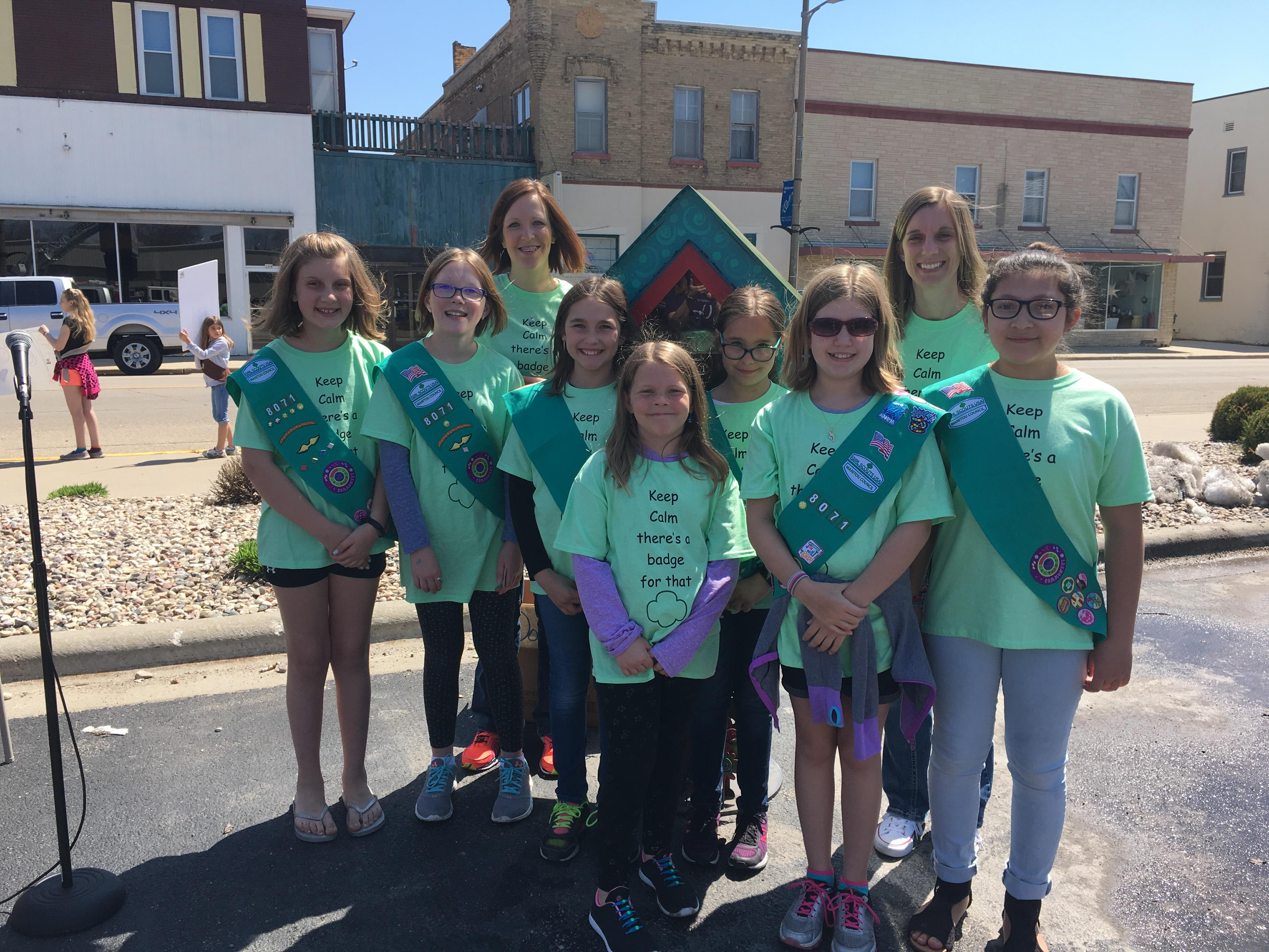 Girl Scouts debut Blessing Box in Brillion Sunday, May 6, 2018. (WLUK/Amber Luckett)