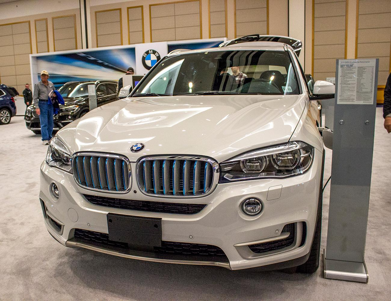 2018 BMW xDrive40e - The Portland International Auto Show began at the Oregon Convention Center on Jan. 25, 2018. The event drew prospective buyers and others who enjoyed looking at and comparing vehicles. Photo by Amanda Butt
