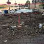 Flood waters leave a mess at Georgetown waterfront in DC