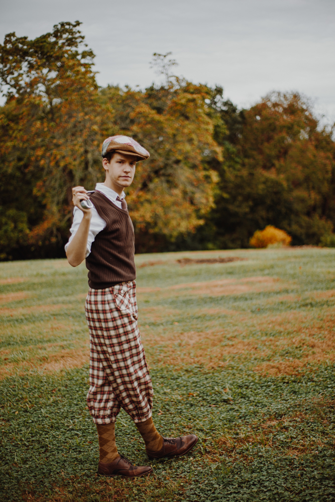 "People: Stuart Lindle as a 1920s-era golfer / Story: ""A Halloween-Themed Fashion Shoot For Your Viewing Pleasure"" / Image: Catie Viox / Published: 11.3.17"