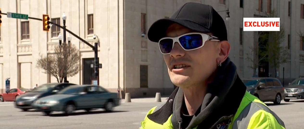 Joshua Murray was shocked when a stranger tried to grab his daughter and pull her away from him while they were walking in downtown Salt Lake City. (Photo: KUTV)