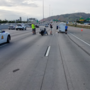 Two in critical condition after van hits motorcycle on I-15, police say