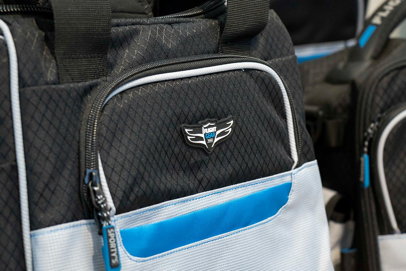 <p>Sporty's offers custom-made pilot bags. / Image: Allison McAdams // Published: 4.14.18</p>