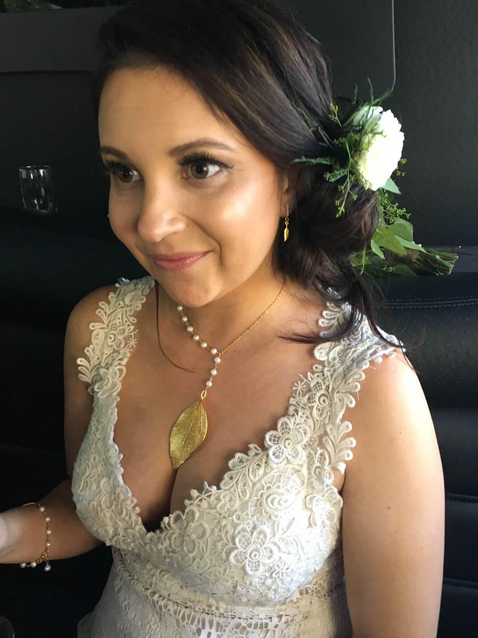 Daniella has most recently been designing personalized jewelry for brides and their bridal parties on their big day. These designs are fun and challenging to Daniella, because it is important to make the bride happy while capturing her individual style. / Image courtesy of Ella Jewelry // Published: 12.17.18<br>