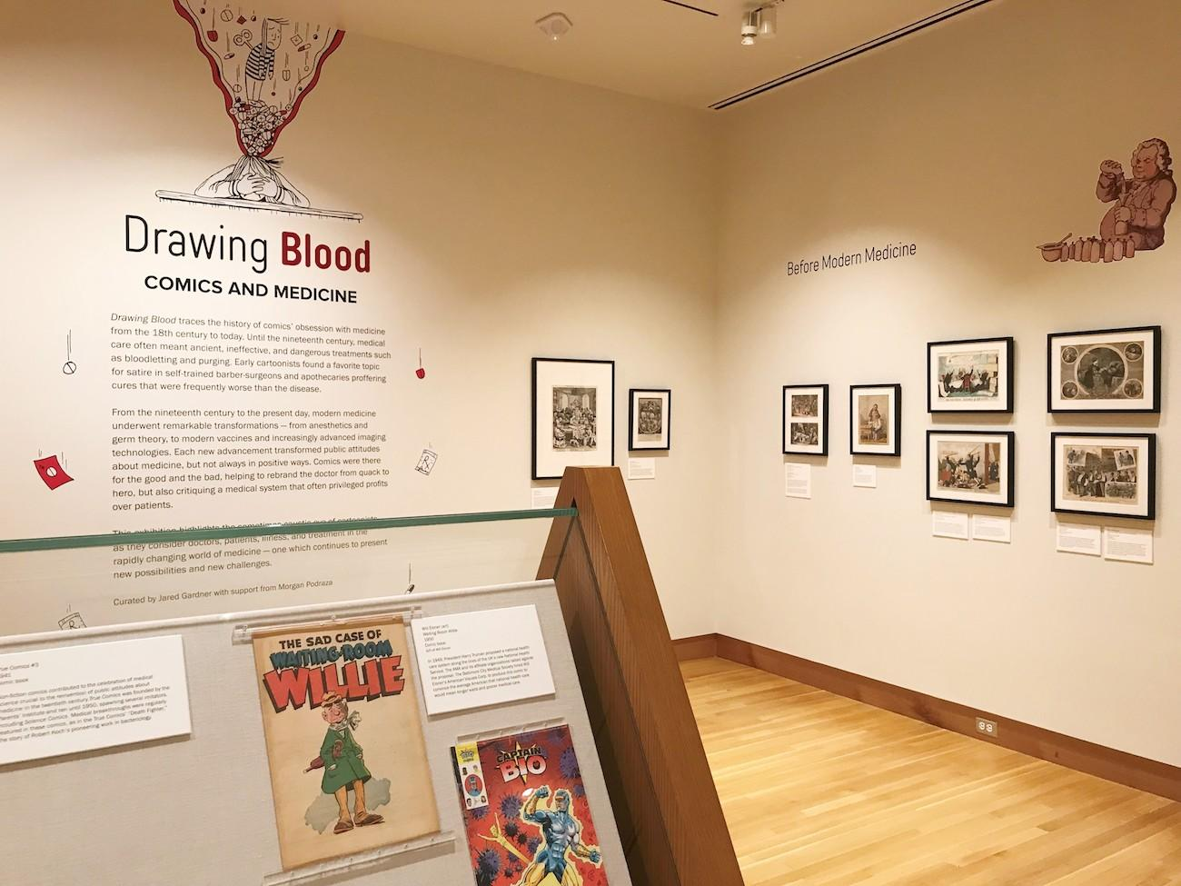 The 'Drawing Blood-Comics and Medicine' exhibit{ }/ Image courtesy of the Billy Ireland Cartoon Library & Museum // Published: 7.1.19