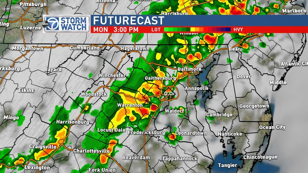Severe Storms expected in the DC area this afternoon