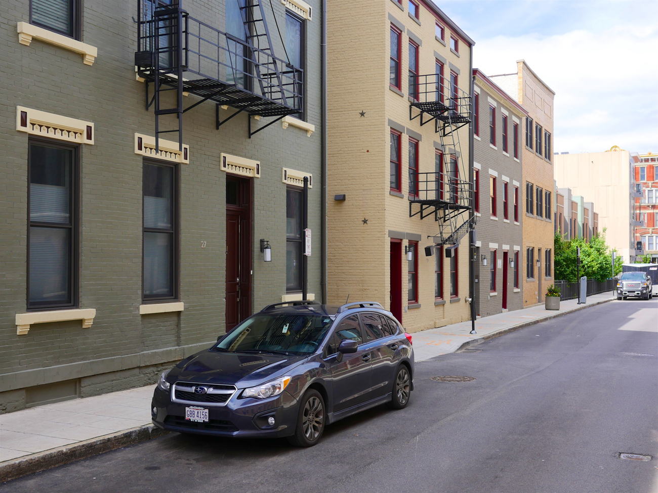 [AFTER] LOCATION: Mercer Street, looking west between Vine and Walnut Streets at Rodney Alley (Over-the-Rhine) / IMAGE: Travis Estell