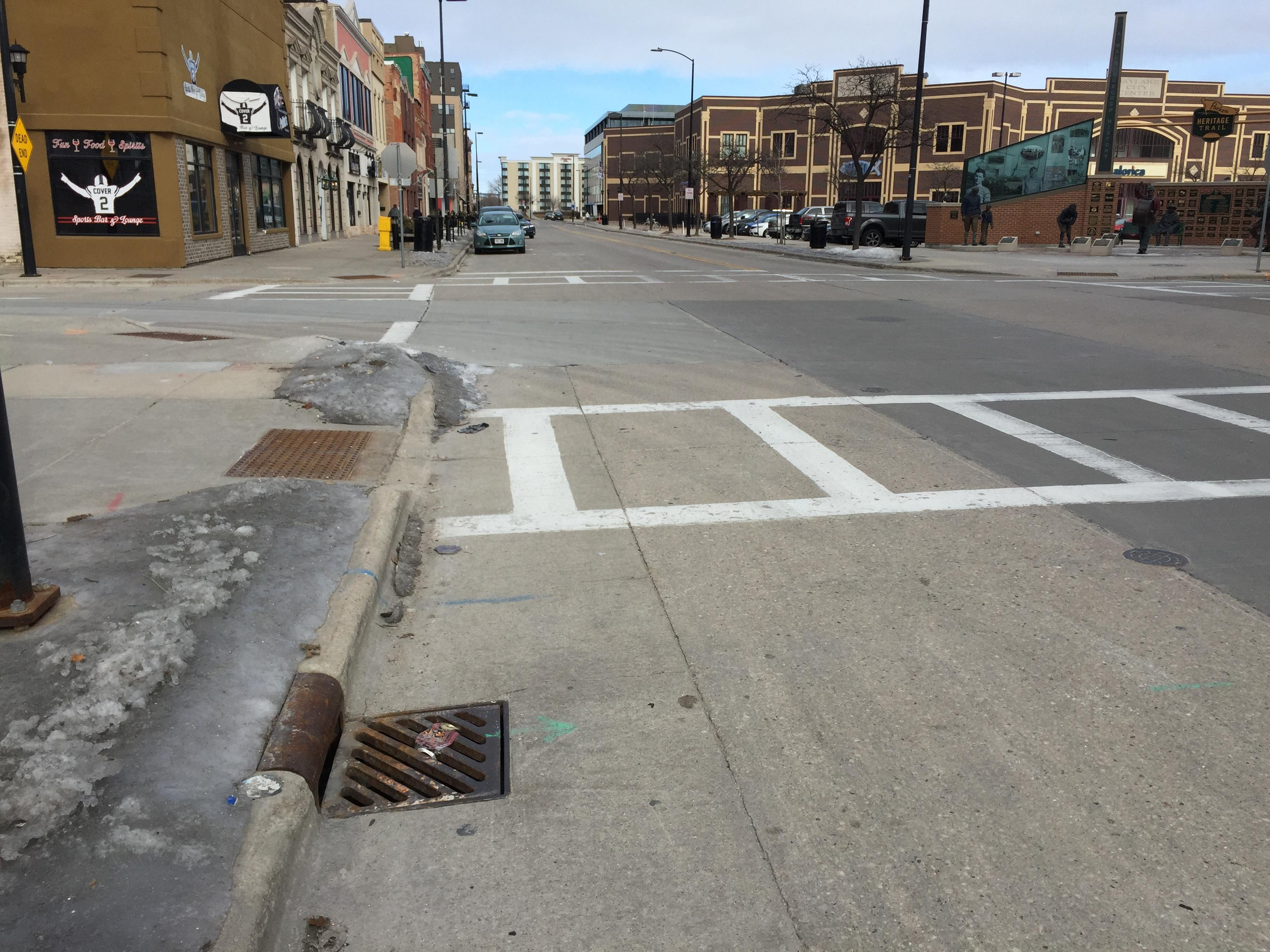 Green Bay streets, January 29, 2018 (WLUK/Eric Peterson)
